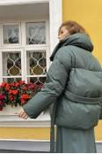 Пуховик STON в цвете хаки