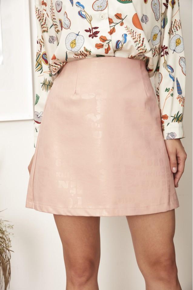 Юбка мини в розовом цвете